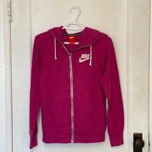 Pink Nike Zip-Up Hoodie